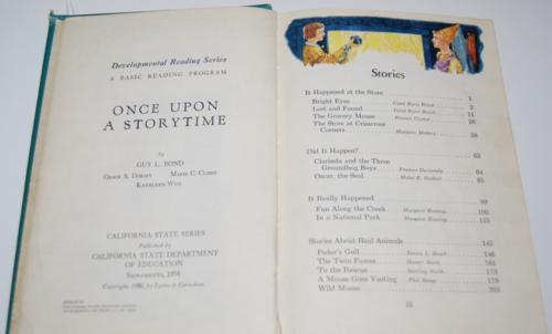 Once upon a storytime vintage reader 2