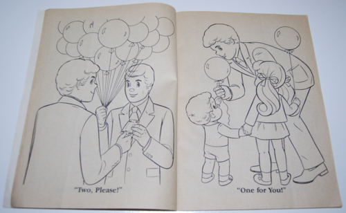 The sunshine family whitman coloring book mattel 1979