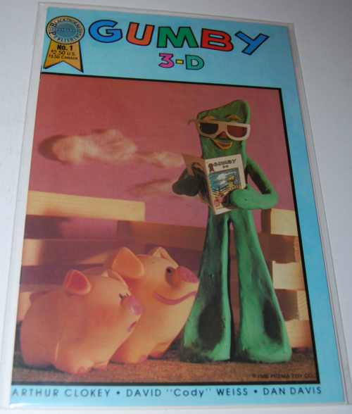 Gumby 3d comic blackthorne 1