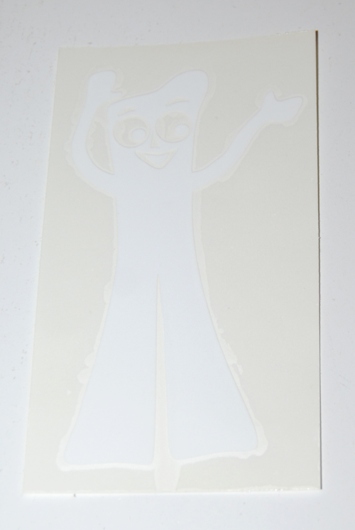 Gumby auto decal