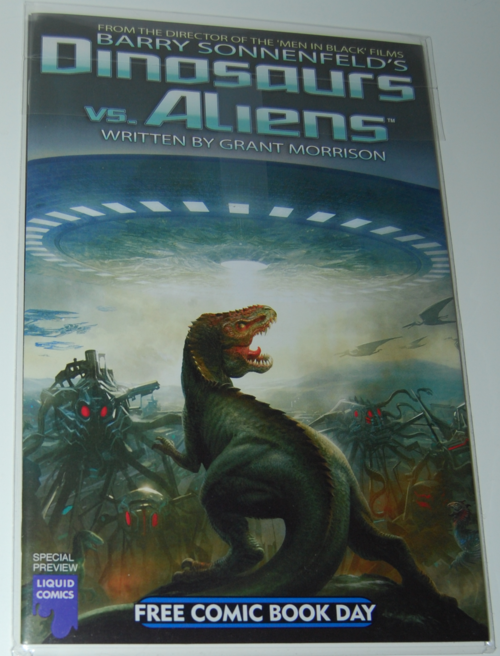 Dinosaurs vs aliens comic