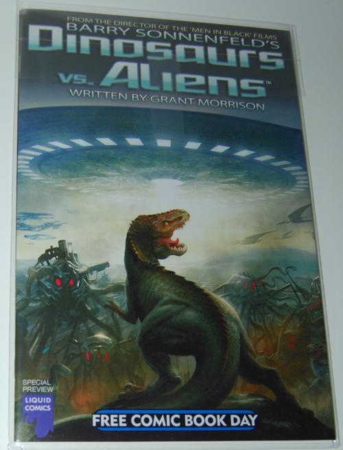 Dinosaurs vs aliens comic