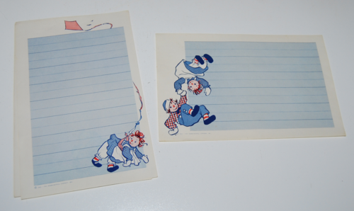 Raggedy ann stationery 3