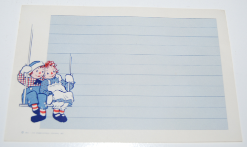 Raggedy ann stationery 7