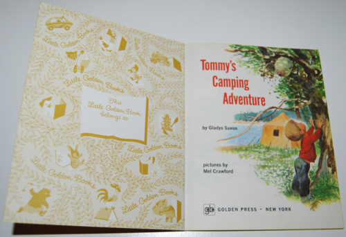 Tommy's camping adventure little golden book 1