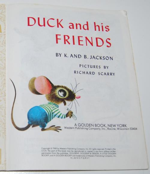 Duck & his friends little golden book 1