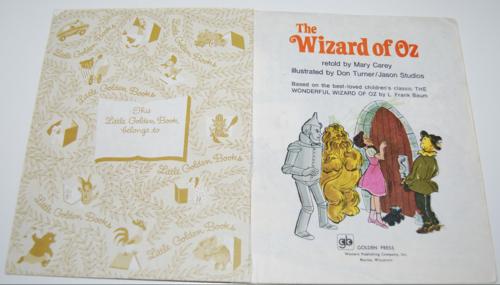 Little golden book wizard of oz 1