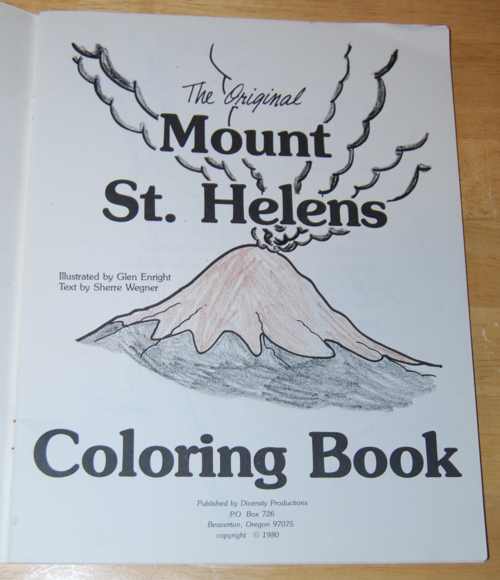 The original mt st helens coloring book 1