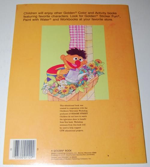 Sesame street coloring book x