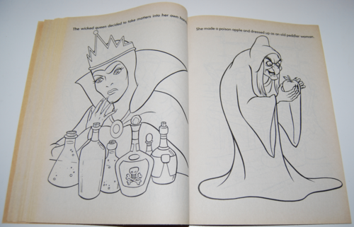 Snow white coloring book 7