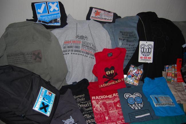 radiohead t-shirts