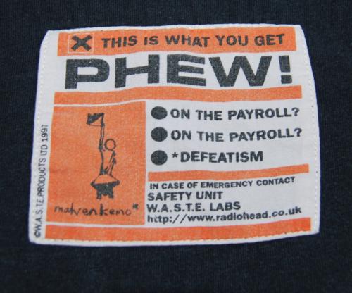 T shirts radiohead 8 x