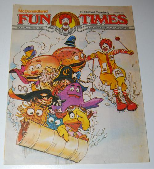 Mcdonaldland fun times 1980