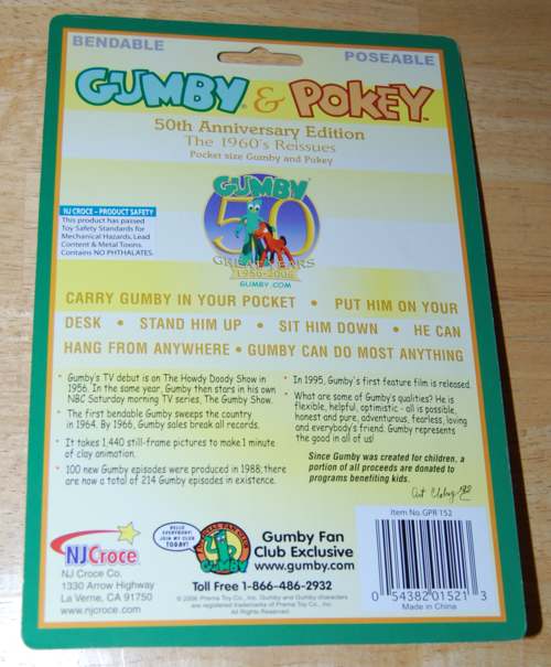 Retro gumby & pokey bitty toys x