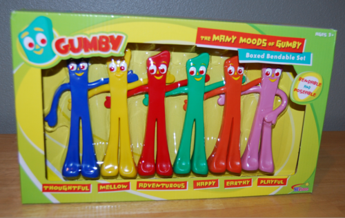 Many moods of gumby toys