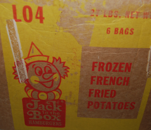 Jack in the box vintage box x