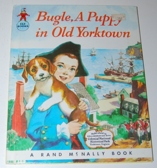 Bugle a puppy in old yorktown book
