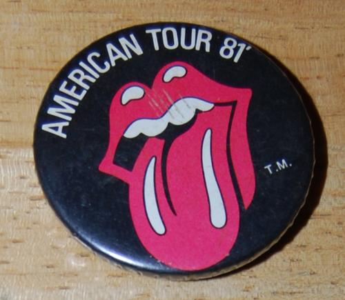 Rolling stones 1981 tour button