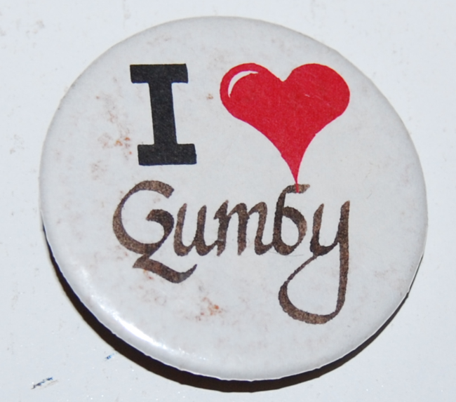 gumby  ~ pins & buttons