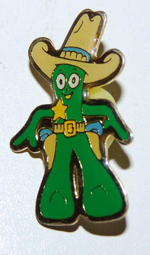 Cowboy gumby pin