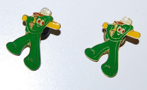 Gumby baseball pins
