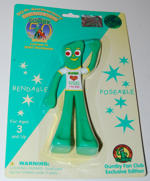 Gumby 50th anniversary bendy