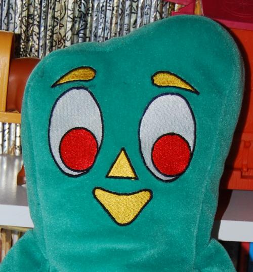 Gumby plush puppet x