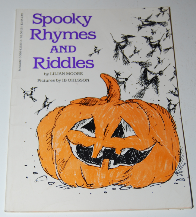 book month ~ spooky rhymes & riddles