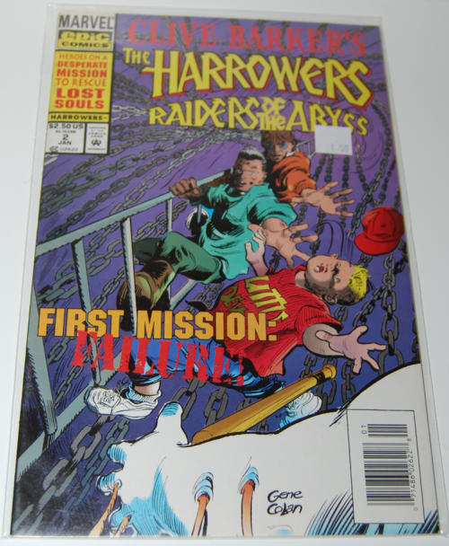 Harrowers clive barker comic xx