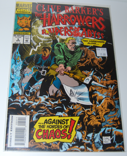 Harrowers clive barker comic
