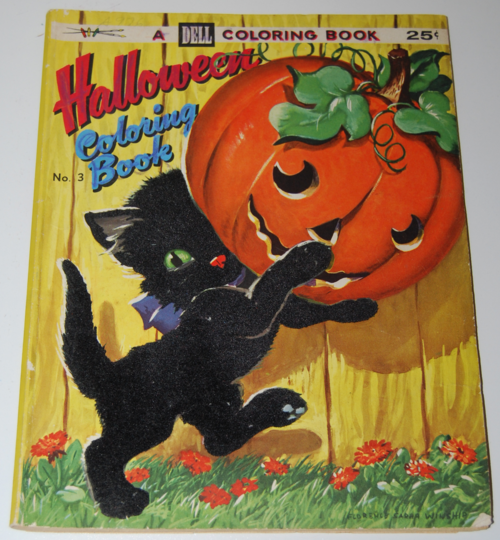 Dell halloween coloring book