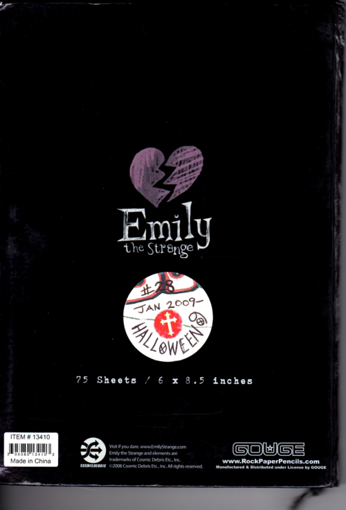 Emily strange journals 5x