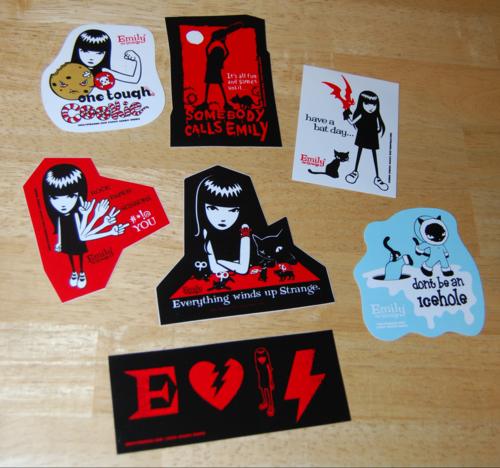 Emily the strange stickers 2