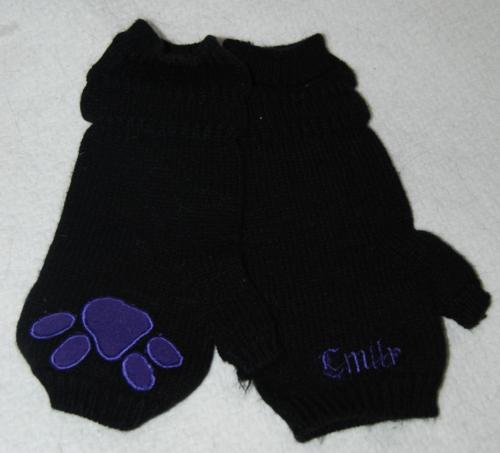 Emily strange paw gloves