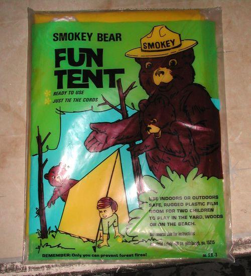 Smokey bear tent