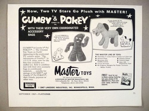 Vintage gumby ad