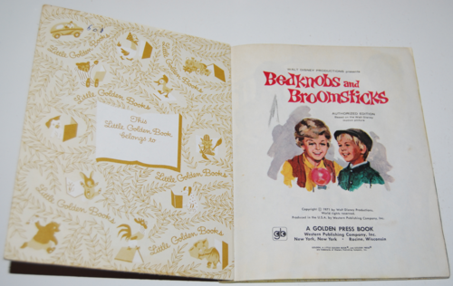 Little golden book bedknobs & broomsticks 1