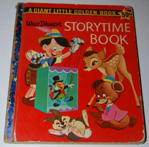 Walt disney storytime giant little golden book