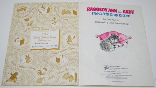 Little golden book raggedy ann & andy little grey kitten 1
