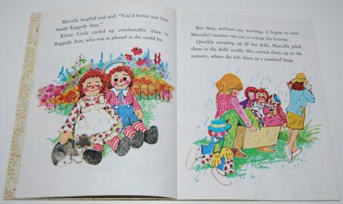 Little golden book raggedy ann & andy little grey kitten 6