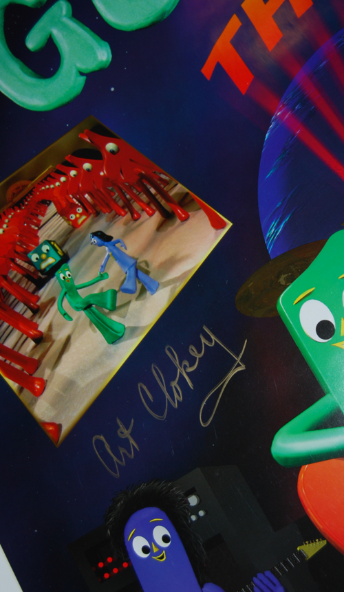 Gumby the movie signed poster x