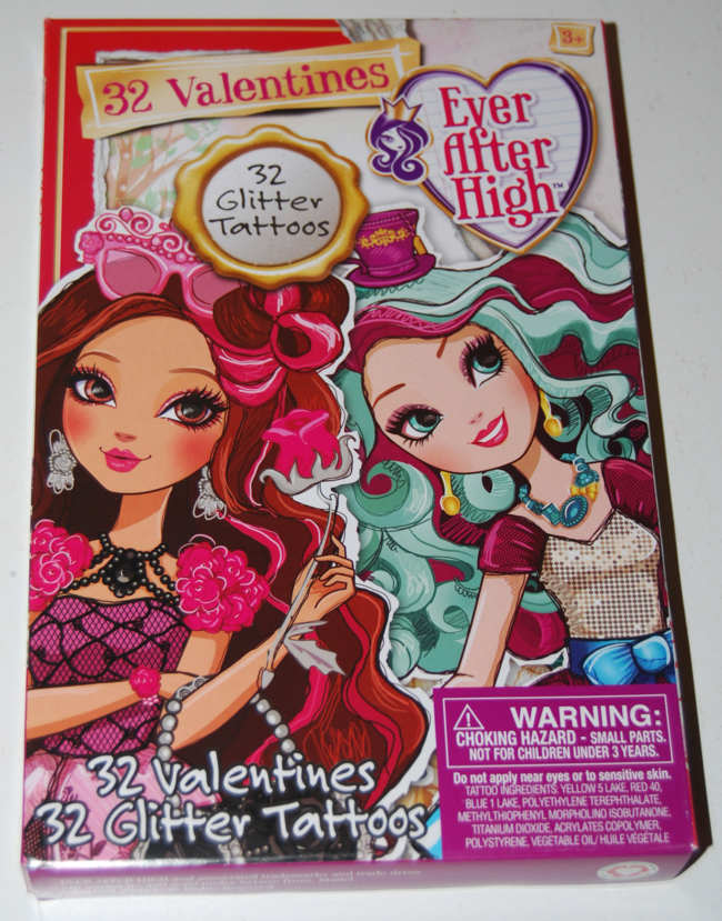 ever after high valentines