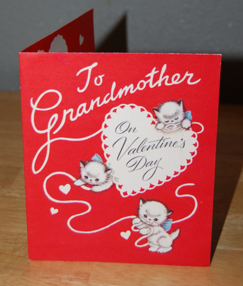 Vintage kitty valentine