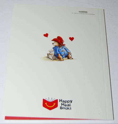 Happy meal paddington book valentines 7