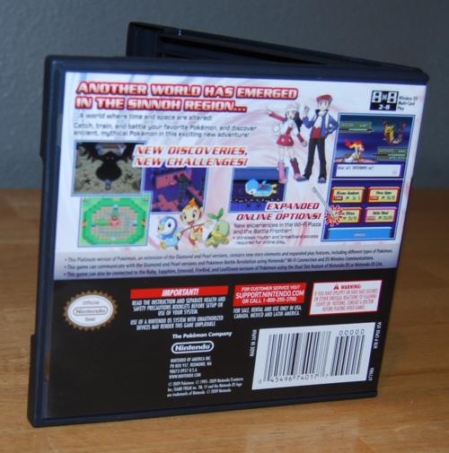 Pokemon ds platinum version x