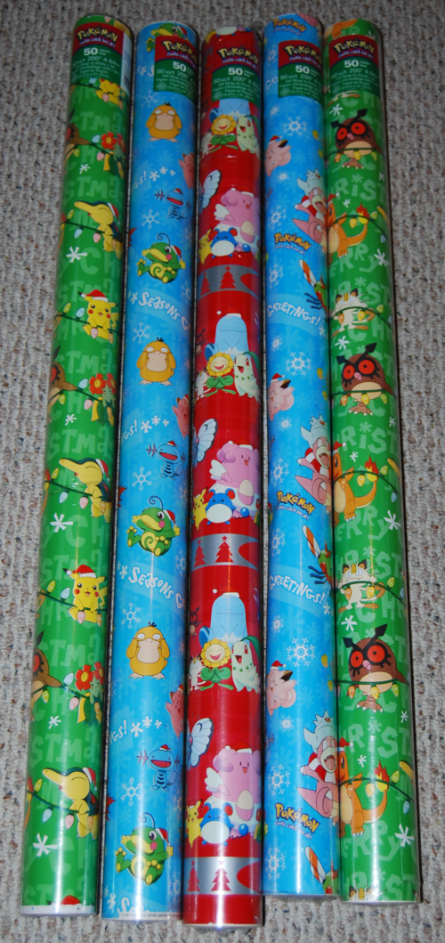 Pokemon wrapping paper 1