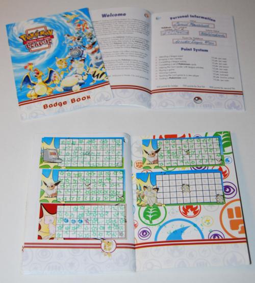 Pokemon league badge book
