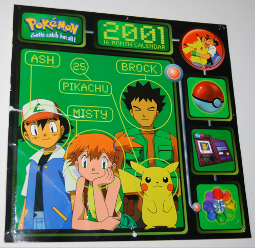 Pokemon 2001 calendar