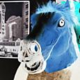 mr horse in neon