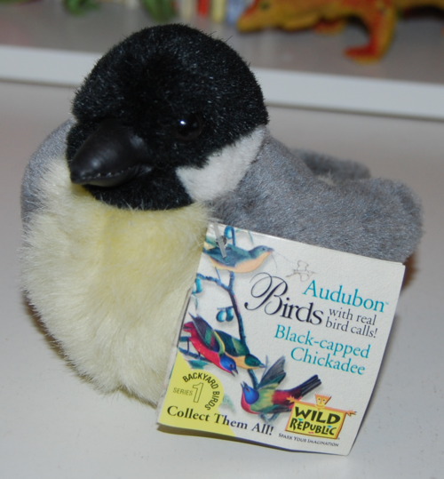 Audubon birds chickadee plush toy